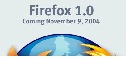 Firefox 1.0 release